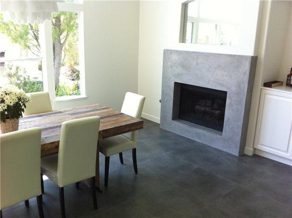 Modern Fireplace Fireplace Surrounds Art Of Concrete Encino, CA