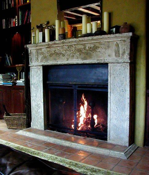 Ornate, Gray Fireplace Surrounds Monterey Bay Cast Stone Watsonville, CA