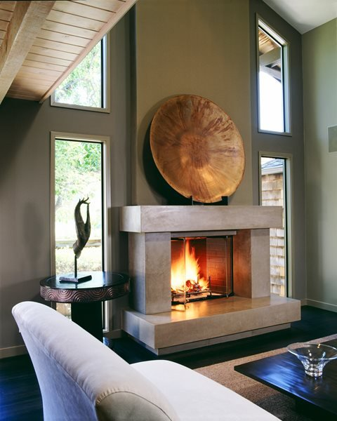 Protruding, Rectangles Fireplace Surrounds Buddy Rhodes Concrete Products SF, CA