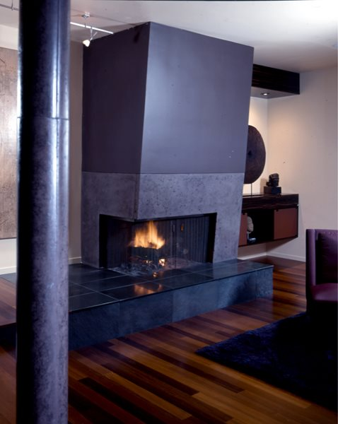 Retro, Large Fireplace Surrounds Buddy Rhodes Concrete Products SF, CA