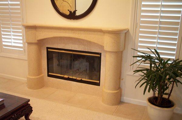 Sand, Collums Fireplace Surrounds Concrete Interiors Martinez, CA