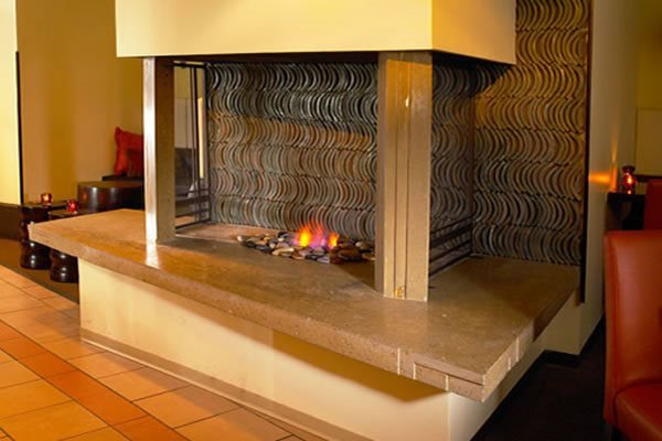 Sand Color Fireplace Surrounds Ideal Surface Rocky River, OH