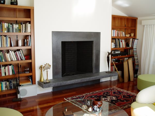 Slate, Clean Fireplace Surrounds Form Function Rowley, MA