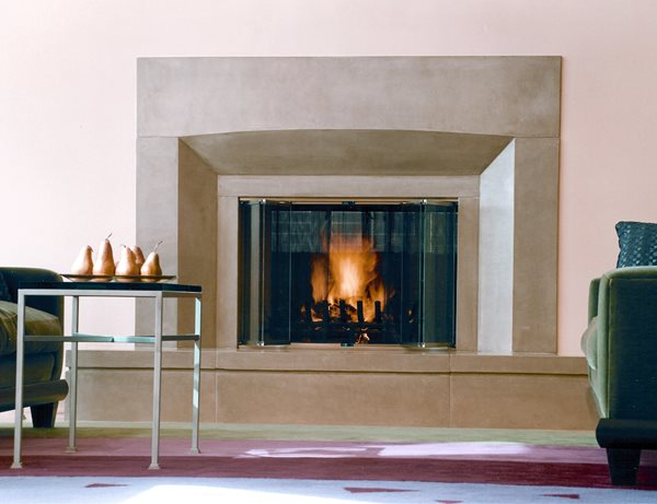 Sleek, Sand Fireplace Surrounds Buddy Rhodes Concrete Products SF, CA