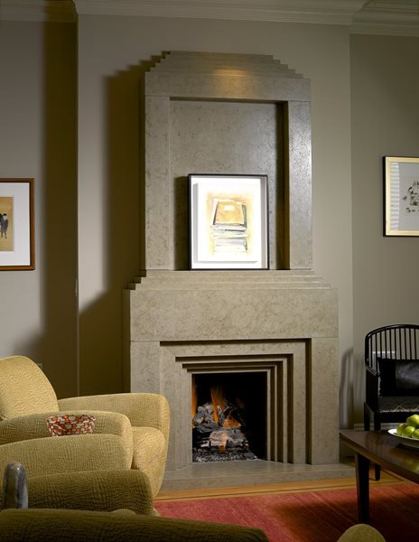Tall, Dementional Fireplace Surrounds Buddy Rhodes Concrete Products SF, CA