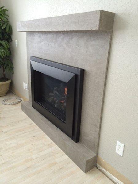 Wood Grain Concrete Fireplace Fireplace Surrounds Hard Topix Jenison, MI