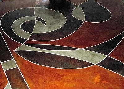 Abstract, Earth Tones Floor Logos and More Advanced Surfacing Technology Elgin, TX