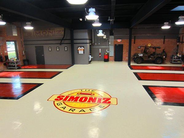 Auto Shop Flooring, Epoxy Flooring Floor Logos and More Custom Concrete Solutions, LLC West Hartford, CT