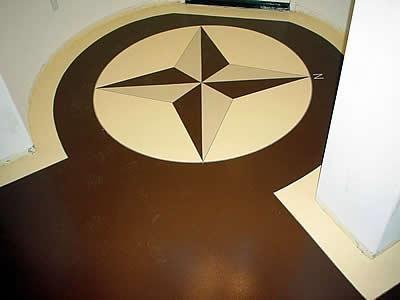 Brown, Tan Floor Logos and More Absolute Concrete Artisans Granbury, TX