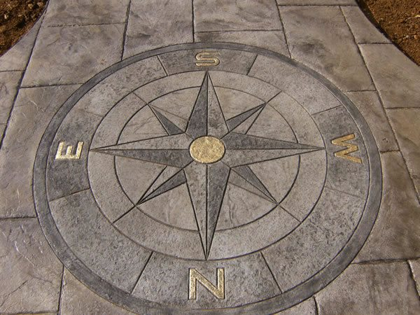 Compass, Shaded, Gold Highlights Floor Logos and More CamoCrete Exton, PA