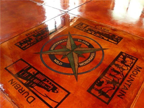 Floor Logos and More Decorative Concrete Institute Temple, GA