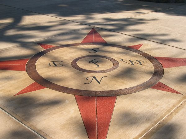 Engraved, Compass Floor Logos and More East Coast Decorative Concrete East Syracuse, NY