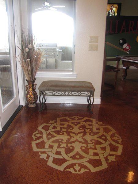 Floor Logo Floor Logos and More Custom Concrete Solutions Schertz, TX