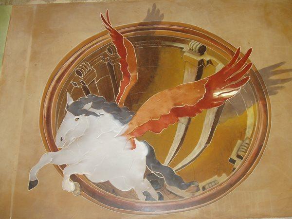 Horse, Artistic Floor Logos and More Decorative Concrete Institute Temple, GA