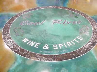 Logo, Green Floor Logos and More R.T. Concrete Greeley, CO