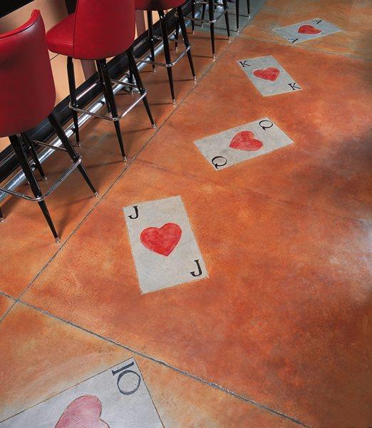 Playing Cards, Red Floor Logos and More Floor Seasons Inc Las Vegas, NV