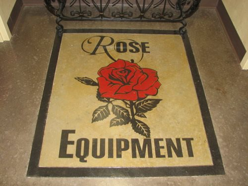 Red, Rose Floor Logos and More Concrete Innovations Lubbock, TX