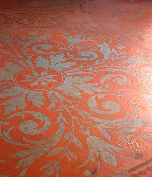 Red, Stencil Floor Logos and More Modello Designs Chula Vista, CA