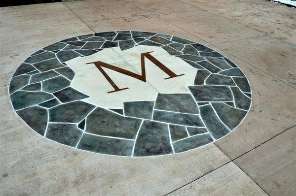 Floor Logos and More Salzano Custom Concrete Aldie, VA