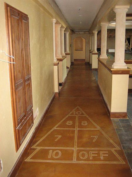 Shuffleboard, Hallway Floor Logos and More Allstate Decorative Concrete Cokato, MN