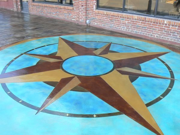 Stained Compass Floor Logos and More KW Construction Chehalis, WA