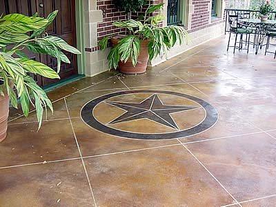 Star, Brown Floor Logos and More Crete Decor Inc. Bayou Vista, TX