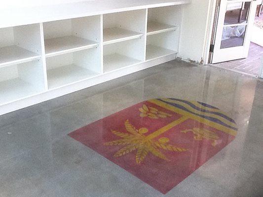 Stencel, Polished Concrete Floor Logos and More Polish-Crete inc Hollywood, FL
