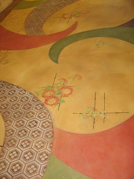 Stenciled, Flowers Floor Logos and More Modello Designs Chula Vista, CA