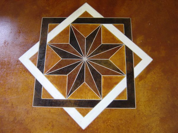 Stenciled, Stained Floor Logos and More Concrete -N- Counters Lutz, FL
