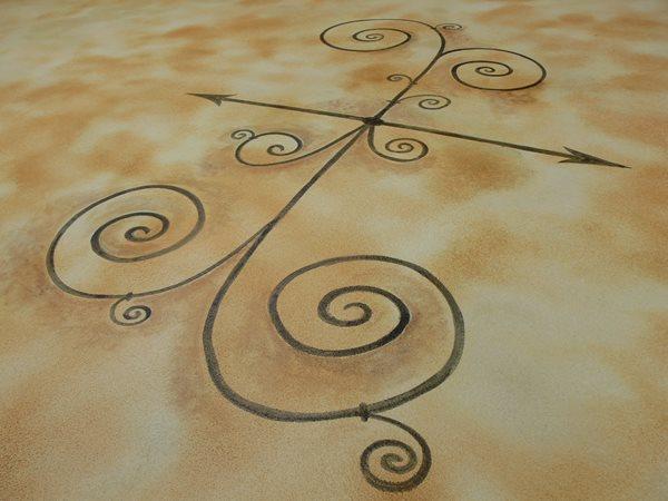 Tan, Stenciled Floor Logos and More SGF Floors Mc Ewen, TN