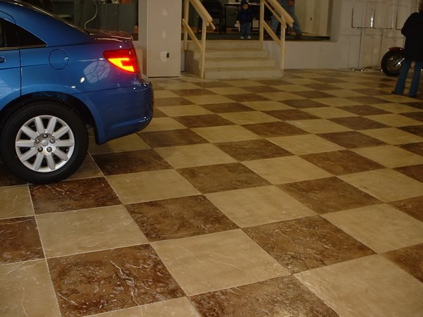 Brown, Checkerboard Garage Floors Yoder Concrete Construction, LLC West Liberty, OH