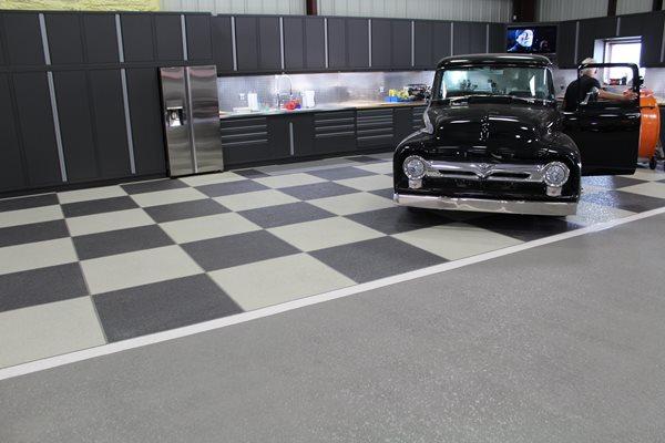 Checkerboard, Garage Floor Garage Floors Sundek of San Antonio San Antonio, TX