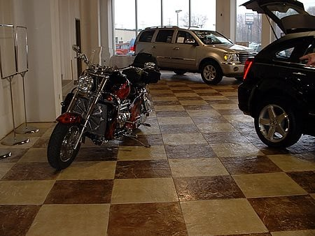 Checkerboard, Showroom Garage Floors Yoder Concrete Construction, LLC West Liberty, OH