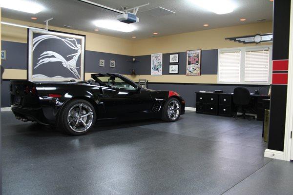 Fancy Garage Garage Floors Deco Illusions LLC Roanoke, IN