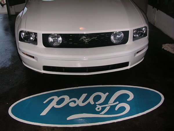 Ford, Symbol Garage Floors Cutting Edge Creations Southgate, MI