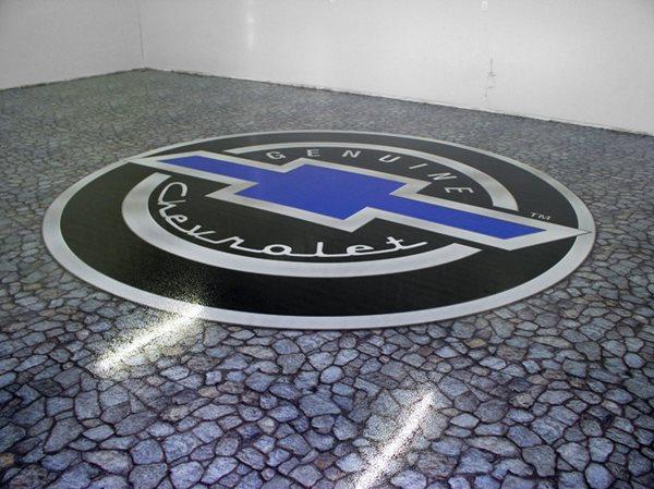Garage, Chevrolet, Logo Garage Floors FloorPix by Agio Imaging Portage, MI