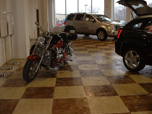 Natural, Checkerboard Garage Floors Yoder Concrete Construction, LLC West Liberty, OH