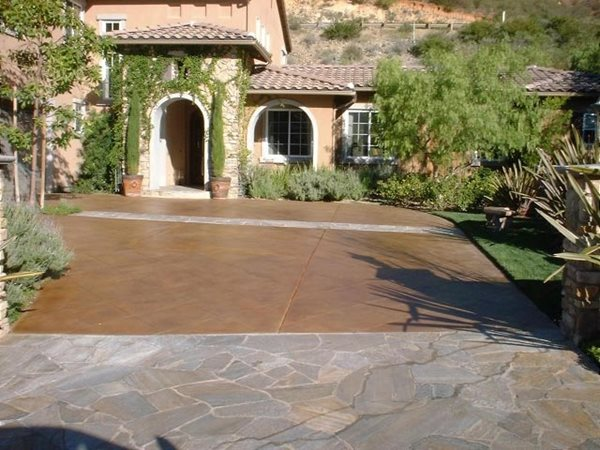 Driveway, Entrance Get the Look - Exterior Staining Concepts In Concrete Const. Inc. San Diego, CA