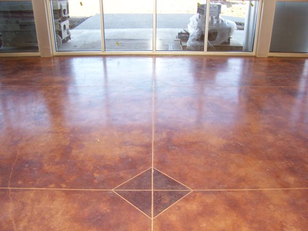 Brown Stained Floor Get the Look - Stained Floors Solid Rock Concrete Services Gravette, AR