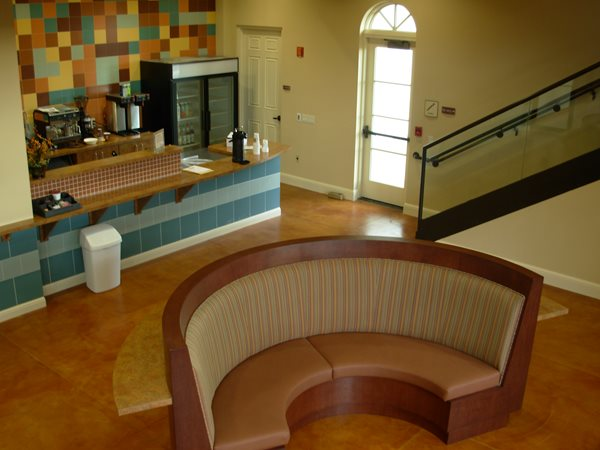 Orange, Stain Get the Look - Stained Floors Innovative Concrete Surfaces, Inc Bonita Springs, FL