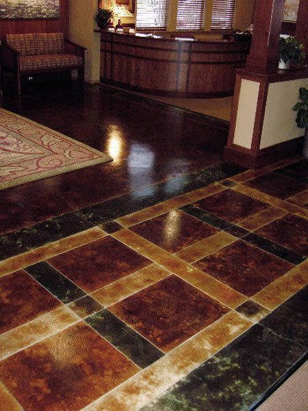 Umber, Black Get the Look - Stained Floors Kemikoating Surfaces Portland, OR
