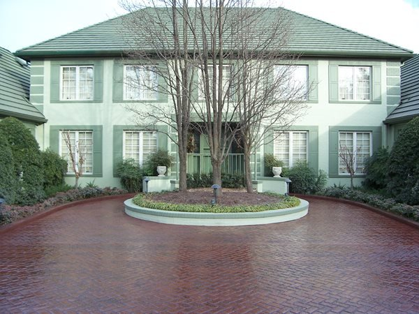 Drive Way, Concrete Driveway Roundabout Get the Look - Stamping Solid Rock Concrete Services Gravette, AR