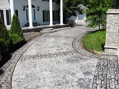 Gray Drive, Cobblestone Get the Look - Stamping Master-Crete Inc. East Carondelet, IL