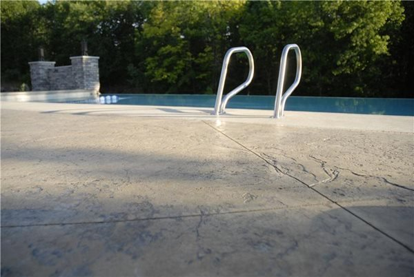 Seamless Stamp, Colored Pool Deck Get the Look - Stamping Nobel Concrete Jenison, MI