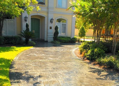 Stamped Driveway, Texas Get the Look - Stamping Titan Concrete Plano, TX