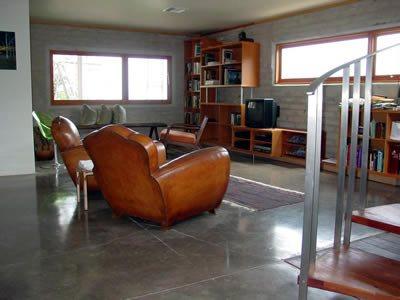 Gray, Polished Gray Floors Demmert & Associates Glendale, CA
