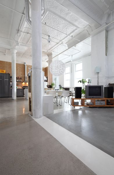 Grey Floor Gray Floors Atelier B Montreal, Quebec