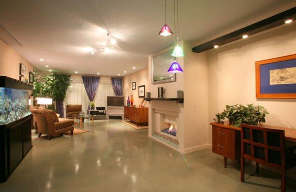 Tan Polished Floor Gray Floors California Concrete Designs Anaheim, CA