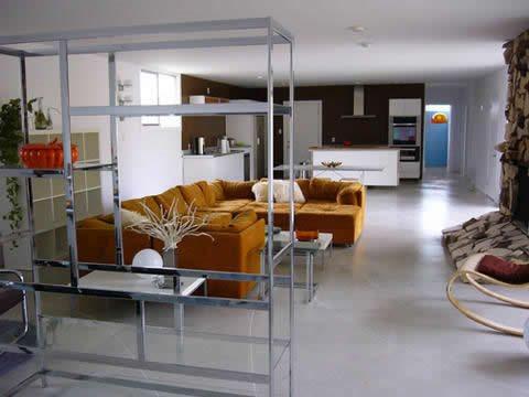 White, Polished Gray Floors Concrete Polishing  by JL Designs Simi Valley, CA