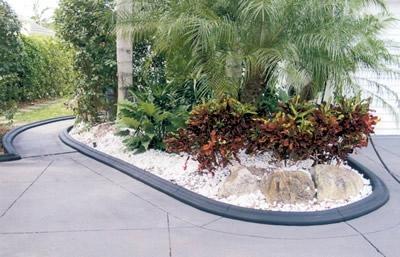 Black, Molded Planter Landscape Borders VenKrete, Inc Coconut Creek, FL